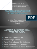 Anatoma Quirurgica de La Paredabdominal