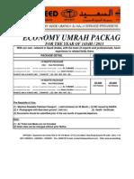 Umrah Package 2013 Economy
