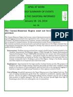 Diaspora News - January 18 - 24, 2014
