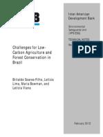 Soares Filho Et Al 2012 - IDB Report - Low Carbon Agriculture