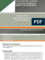 Asignacion #2 Inge 3016,UPR Ponce