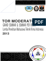 ToR Moderator Seminar Perroom Lingkungan