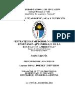 Educacion Ambiental- Mono- Original