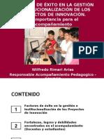 Factores de éxito en gestion de Proyectos Innovadores Wilfredo Rimari