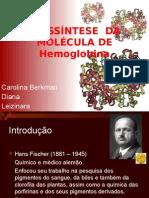 BIOSSÍNTESE  DA MOLÉCULA DE HEMOGLOBINA