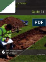 Archaeology Career Advice 2013