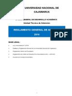 Reglamento UNC 2014