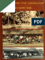 ලංකාවේ සිංහලයෝ  ඉංගීසි පොත Ceylon  And The Cingalese