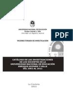 Catalogo Investigaciones UNE