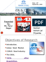 tata corus acqusition
