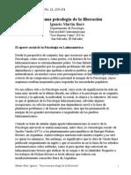 Martín–Baró, Ignacio. ''Hacia una psicología de la liberación''