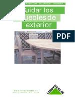 Cuidado de Muebles de Exterior