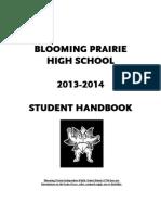high school student handbook 2013-14