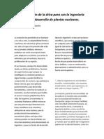 Implementación de la ética para con la Ingeniería Química en el desarrollo de plantas nucleares