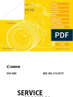 Canon Eos 40D Service Manual Repair Guide