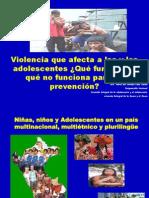 Violencia que afecta jóvenes Dra. MariCarmen Calle