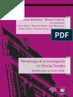 Metodología de la Investigación en Ciencias Sociales Apuntes para un curso inicial 2011