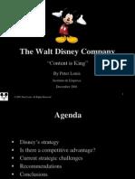 Walt Disney - Content Is King