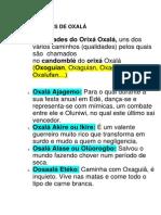 QUALIDADES DE OXALÁ