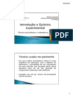 Aula 5 -Técnicas em gravimetria e volumetria