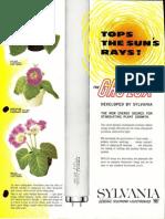 Sylvania Gro-Lux Lamps Brochure 1965