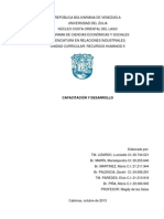 Capacitacion y Desarrollo. Informe 2 de Recursos Humanos