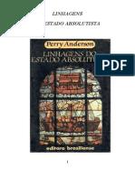 Perry Anderson - Linhagens Do Estado Absolutista, Parte 1 Europa Ocidental, Cap 1 (1) LER PG 15 a 41