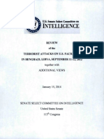 U.S. Senate Select Committee n Intelligence - Review of the Terror Attacks on U.S. Facility in Benghazi, Libya, September 11-12, 2012