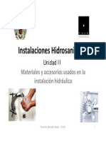 Materiales en Las Instalaciones Hidraulicas