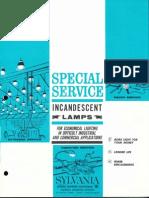 Sylvania Incandescent Special Service Lamps Brochure 1963