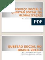 SERVIÇO SOCIAL E QUESTÃO SOCIAL NA