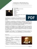 Postgrado Metodologia Investigacion Ciencias Sociales