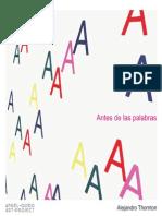 Catalogo Antes de Las Palabras_Thornton_2010
