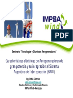 Caracteristicas Aerogeneradores Argentina