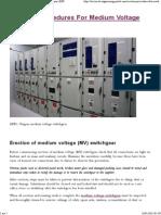 Erection Procedures For Medium Voltage Switchgear _ EEP.pdf