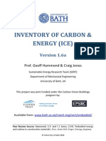 Inventory of Carbon and Energy