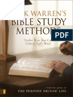 Rick Warren's Bible Study Methods by Rick Warren, Excerpt
