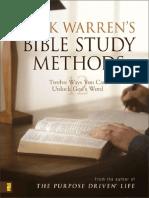 Rick Warren's Bible Study Methods by Rick Warren, Excerpt