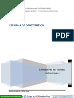 Frais de Constitution