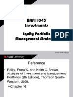9. Equity Portfolio Management