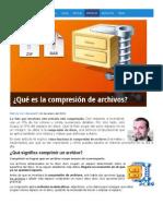 compresión de archivos