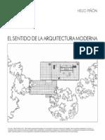 El Sentido de La Arquitectura Moderna Helio Pinon