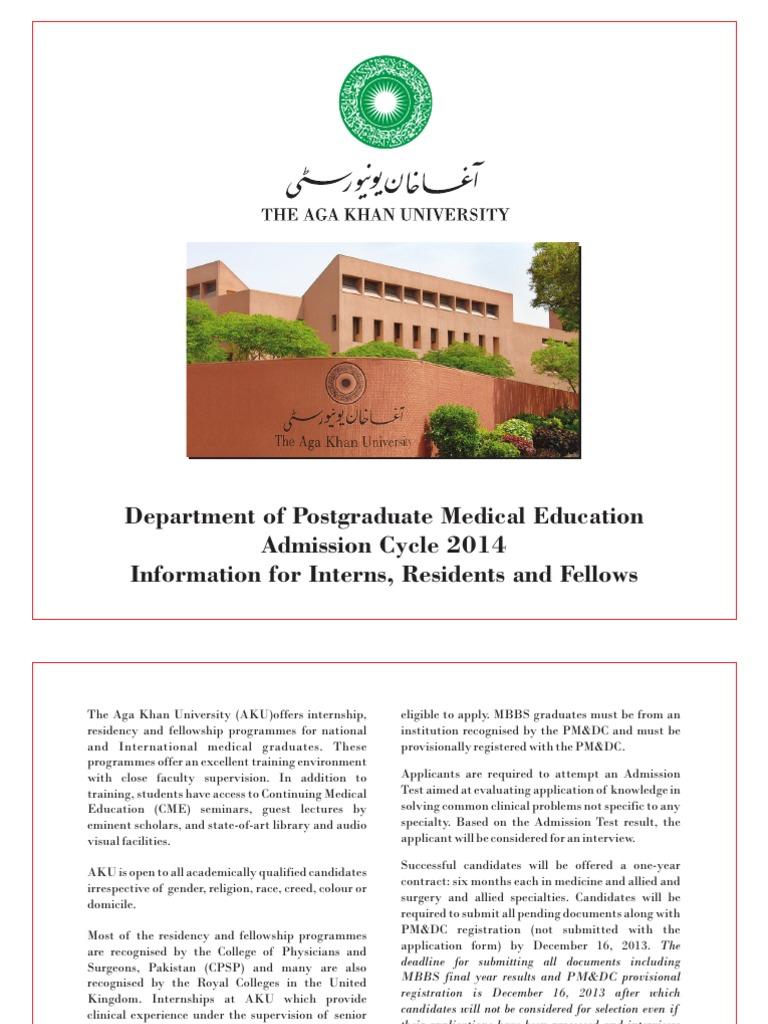 Brochuer (PGME) | Residency (Medicine) | Life Sciences