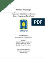 Dokumen Perancangan Sistem informasi  Pengelolaan Tempat Futsal