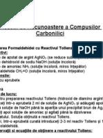 Reactii de Recunoastere a Compusilor Carbonilici Cls.12