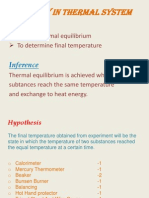 Energy in Thermal System
