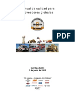 Global Supplier Quality Manual - Fifth Edition ES