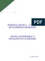 Tipos y Tecnica de Porteros de Waterpolo por Manel Silvestre