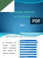 Estructura Memoria Tesis de Titulacion