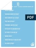 10 Lessons on Leadership Shareable Poster